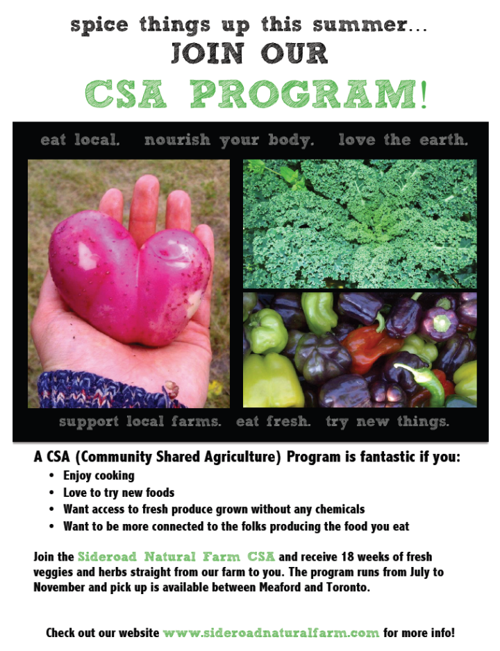 Love food? Love Farms? Join our CSA!